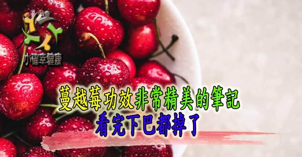 蔓越莓功效非常精美的筆記,看完下巴都掉了